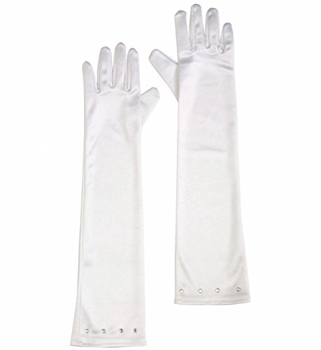 Widmann 34471 - Lange weiße Handschuhe Glamour aus -