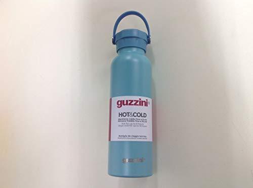 Guzzini Bottiglia da Viaggio Termica Mantiene Caldo Fino 8 Ore e Freddo Fino 16 Ore, Acciaio. (Celeste)