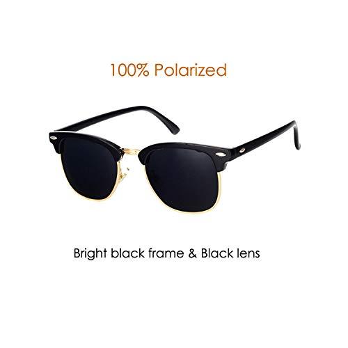 Sportbrillen, Angeln Golfbrille,Classic Brand Polarisiert Sunglasses Men Women Half Metal Mirror Unisex Sun Glasses Gafas De Sol UV400 CC0832 C4