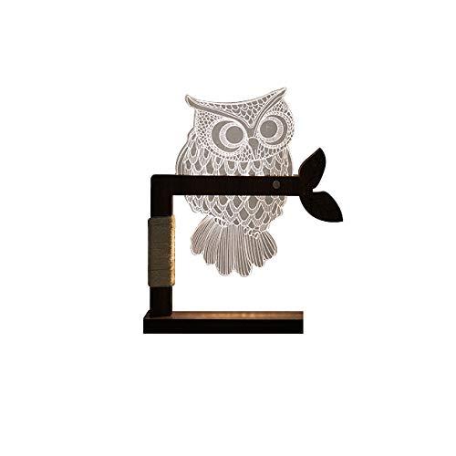 YANG Kreatives LED-Nachtlicht 3D Visuelle Stereo-Tischlampe, Verstellbare Licht Romantik...