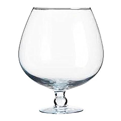 XXXL Riesen Cognac Schwenker Glas Cognacschwenker Kristallglas Füllmenge ca. 7 Liter Höhe ca. 28 cm, Öffnung oben ca. 15 cm