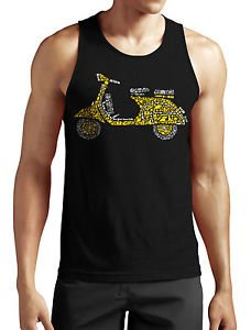 Scooter Tank Top Neu Fun Moped Ossi DDR Retro Vintage Grunge Old School Oldtimer Schwarz