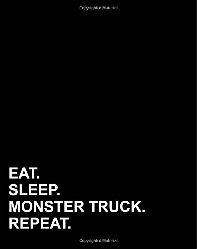 Eat Sleep Monster Truck Repeat: Dot Grid Notebook, Dot Grid Travel Notebook, Dot Grid Travelers Notebook, Bullet Grid Journal Calendar, Dot Grid Writing Pad, 8