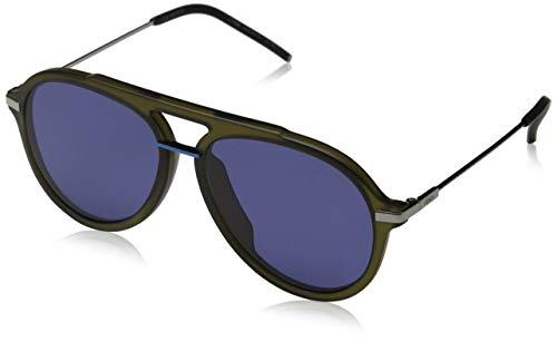 Fendi Herren FF M0011/S KU 1ED 58 Sonnenbrille, Grün (Green Blue)