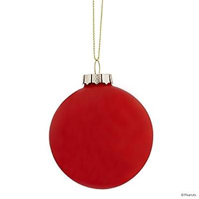 Weihnachtskugeln mit Snoopy- Motiv - Christbaumkugeln Weihnachtsbaumschmuck - Peanuts Glaskugel Snoopy/Baum 8cm BUTLERS von BUTLERS - Gartenmöbel von Du und Dein Garten