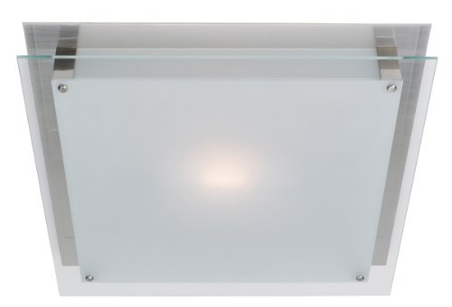 Access Lighting 50033-BS/FST Vision ADA 6.75-inch Wall Fixture/Flush Mount, Brushed Steel Finish with Frost Glass Shade by Access Lighting -