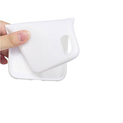 iPhone X Custodia, Gel Soft TPU Skin Shell [Sottile] durevole protettivo Cover iPhone 10 / iPhone X Copertura [TPU Cartoon Case] Graffi Resistenti - Nero cane bianca 1