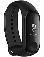 M3 Smart Band Fitness Tracker Watch Heart Rate with Activity Tracker Waterproof Body Functions Like Steps Counter, Calorie Counter, Blood Pressure, Heart Rate Monitor LED Touchscreen