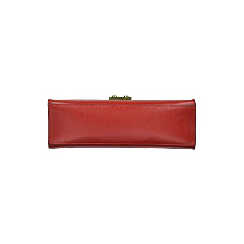 itBags - Borsa a mano Kelly in Vera Pelle Made in Italy Rosso