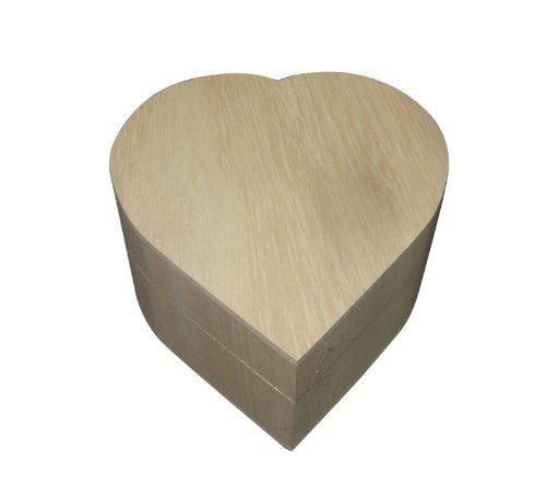 Baule in legno a forma di cuoreper ciondoli da 11 cm –Utilizzalo semplice, decorato o smaltato! Ideale per ciondoli, gioielli, regalo–WBM0041.
