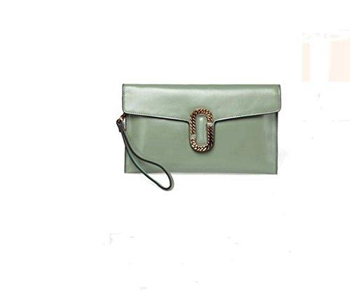 La signora frizione della busta, sacchetto di frizione ad alta capacità, spalla personalità della moda, Messenger Bag Mustard Green