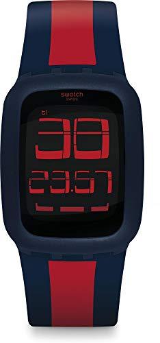Swatch Orologio Digitale Quarzo Unisex Adulto con Cinturino in Silicone SURN101D