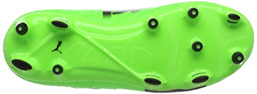 Puma Evopower Vigor 1 Fg Jr, Chaussures de Football Mixte Enfant Vert (Green Gecko-puma Black-safety Yellow 01)