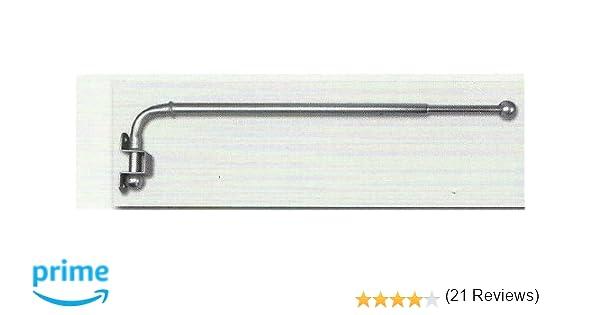 12 x Satin Silver Metal Curtain Pole / Rail / Rod Stylish Rings ...