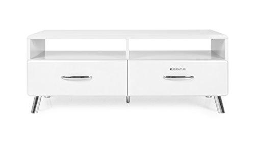 Tenzo 4942-001 Cobra Designer TV-Bank, 46 x 118 x 43 cm, MDF lackiert, weiß Bank, Gewichte, Ersatzteile