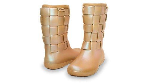 Crocs, Stivali donna Oro (Gold/Gold)