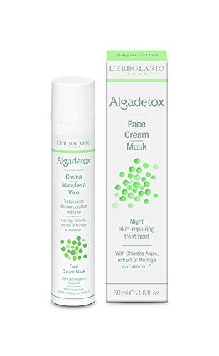 L'Erbolario ALGADETOX Crememaske/Nacht Repair Behandlung für das Gesicht, 50 ml