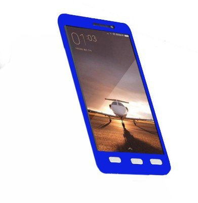 VIVO V5 360 Degree Full Body Protection Back Case Cover With Tempered Glass (Blue) Combo Offer
