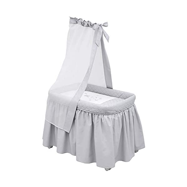 Cambrass Small Bed TC Cambrass Small metal cot recommended for the first months of life The metal structure includes a metal canopy and wheels for easy handling and transport Dimensions: 55cm x 81cm x 65cm 1
