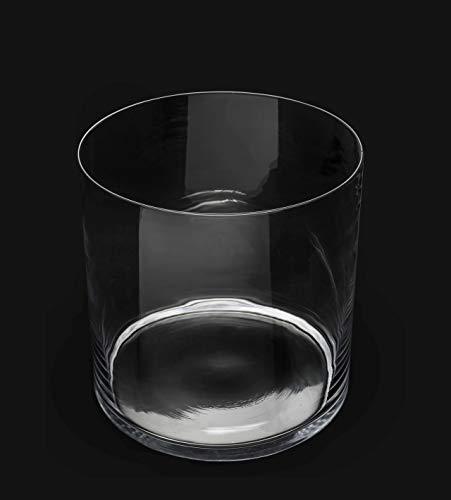 Vaso cilindrico cilindro vetro acquario pesce composizione floreale centrotavola