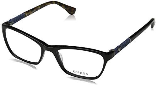 Guess Unisex-Erwachsene GU2594 001 52 Brillengestelle, Schwarz (Nero Lucido),