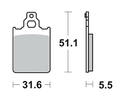 Lucas Bremsbeläge TRW MCB651EC für PIAGGIO/Vespa SKR 125Skipper 2Stroke CSM 94–97(vorne) Test
