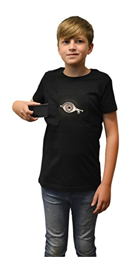 Digital Dudz DDKTPZL - Moving Eye Peeking Zipper Kinder T-Shirt, Größe L, 10-11 Jahre, (Kostüm Dudz)