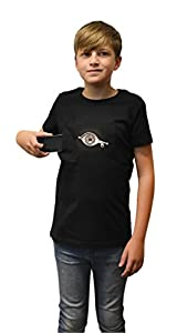 Digital Dudz Moving Eye asomándose Cremallera para T-Shirt