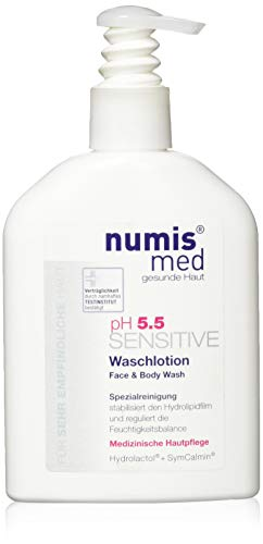 numis med ph 5.5 SENSITIVE Waschlotion Spender 200ml - vegan & parabenfrei 1er Pack (1 x 200ml)