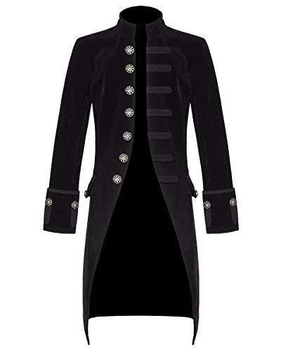 3904e1ba324a8 Star Leather Neuf pour Hommes Steampunk Vintage Queue de Pie Veste Velours  Gothique Victorien Redingote Manteau
