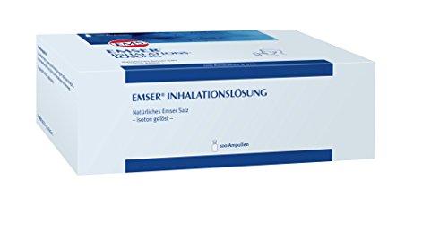 Emser Inhalationslösung mit Natürlichem Emser Salz - Inhalation bei Erkältung, Asthma und Bronchitis - 100 Ampullen à 5 ml -