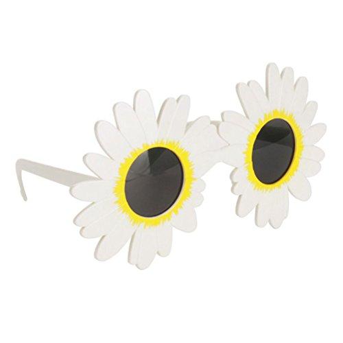 BESTOYARD White Daisy Flower Kostüm Gläser Hawaiian Dance Sonnenbrille Luau Hawaii Party Supplies Halloween Kostüme (Hawaiian Luau Halloween-kostüm)