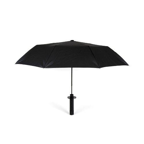 Kikkerland Samurai Mini - Paraguas Negro