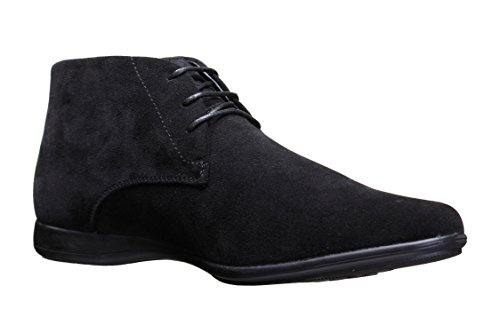 Reservoir Shoes - Chaussure Derbies Tarek Bottine Black Suede Noir