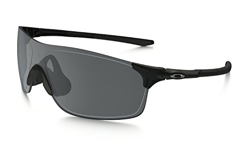 Oakley Men's Evzero Pitch (a) Non-Polarized Iridium Rectangular Sunglasses, Polished Black, 38 mm