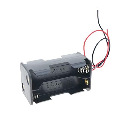 Oferta de BeMatik - Portapilas para 4 pilas LR6 AA 1.5V (EN080)