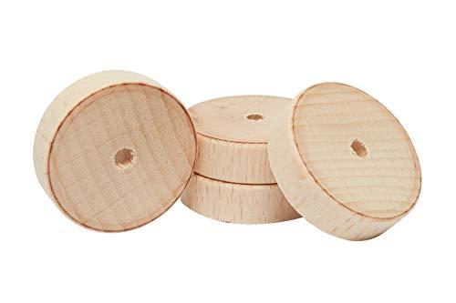 Rayher Holzscheiben/Räder, 30 mm, 4 Stück -
