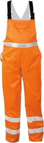 SAFESTYLE Warnschutz-Latzhose - EN472 Klasse 2 - orange - Größe: 48