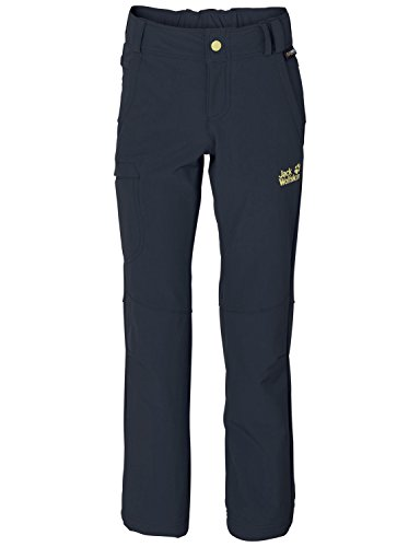 Jack Wolfskin Mädchen Hose Activate II Softshell Pants, Night Blue, 152, 1604971-1010152