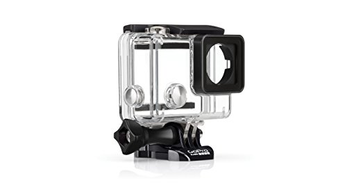GoPro Standard Housing - Carcasa Standard Sumergible (hasta 40 m) para HERO4, Hero 3+, HERO3, Color Claro
