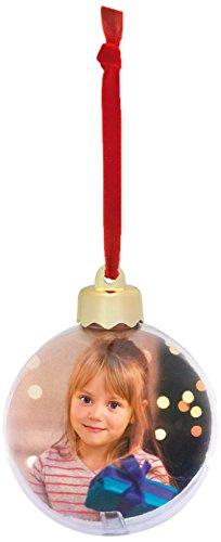 Kit 4 palle di natale personalizzabili con foto -7,5x7,5cm