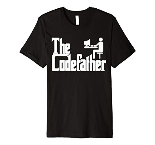 Herren The Codefather Programmierer TShirt Computer Geschenk Idee