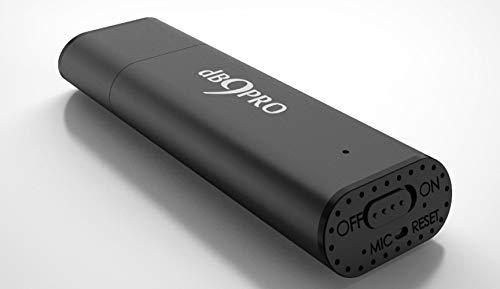 db9pro Grabador de audio [Gray]–8GB/96hrs, Capacidad Mini dispositivo de grabación de audio digital grabadora de voz espía–USB con micrófono. Con 2cordones. nunca perderás otra palabra.