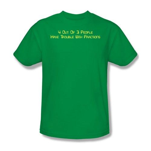 Problemi con frazioni-Maglietta da uomo, colore verde Kelly verde Verde - Kelly green