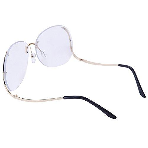 Dollger - Lunette de soleil - Femme Blue Blocking Clear Lens+Gold Frame