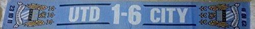 Bufanda de Manchester City 6 United 1