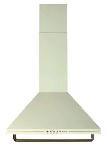 Gorenje DK 63 CLI Kaminhaube / Breite 60 cm / elfenbein / Metall-Fettfilter / Classico Collection