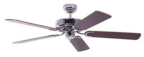 Pepeo 13322010132_v4 Potkuri Ceiling Fan includes Mahogany Blades - Steel