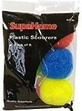 SupaHome Plastic Scourers Pack of 6 SHC50
