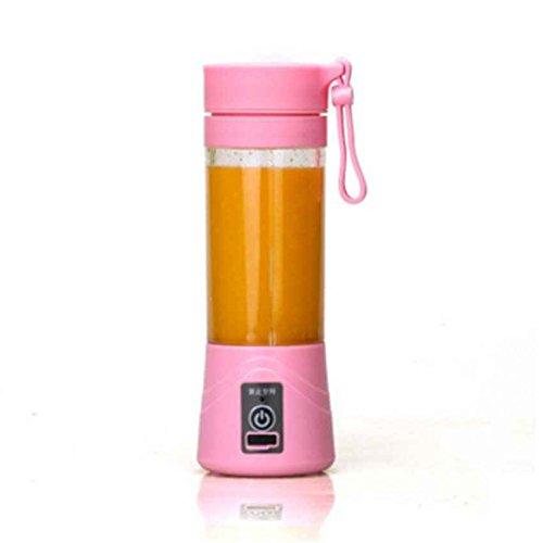 fish 380ml USB aufladbare Entsafter Cup Flasche Citrus Blender Frucht Milkshake Smoothie Squeezer (Smoothie Hand Blender)